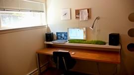 寝室,ベッドルーム,デスク,机,書斎